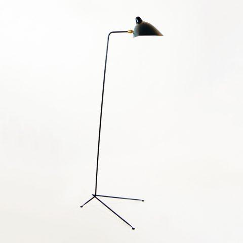 Lámpara de suelo de un brazo de Serge Mouille