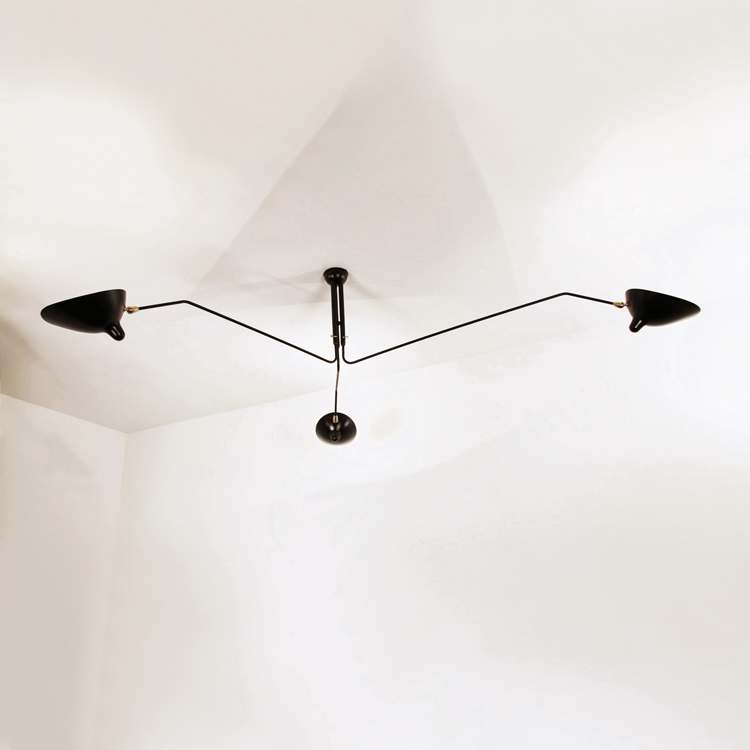 Lámpara de techo de 3 brazos Serge Mouille