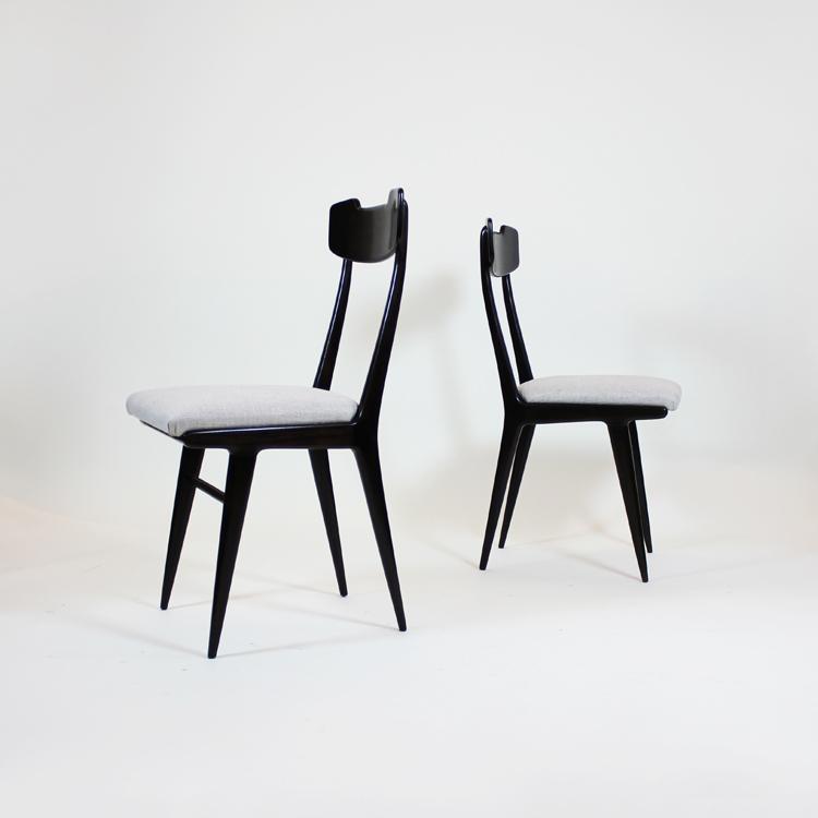 Conjunto de 6 sillas estilo Ico Parisi