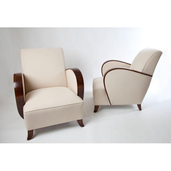Pareja de sillones art dec tiempos modernos for Sillones precios
