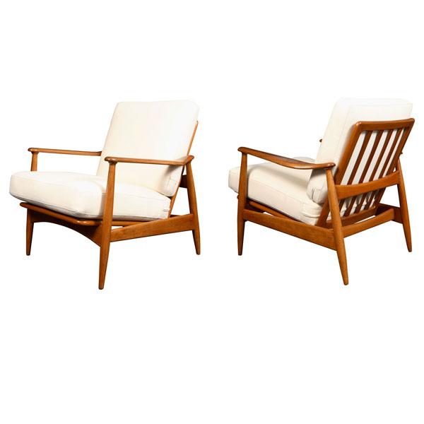 Pareja de sillones atribuidos a finn juhl dinamarca a os - Muebles anos 50 madrid ...
