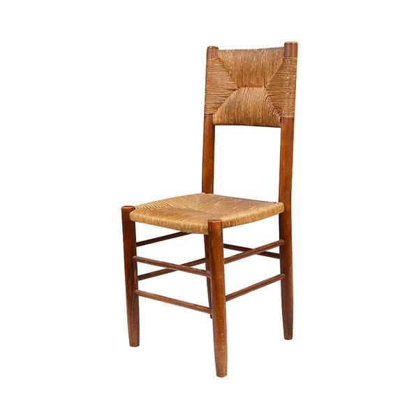 Conjunto de 4 sillas estilo charlotte Perriand. París años 50