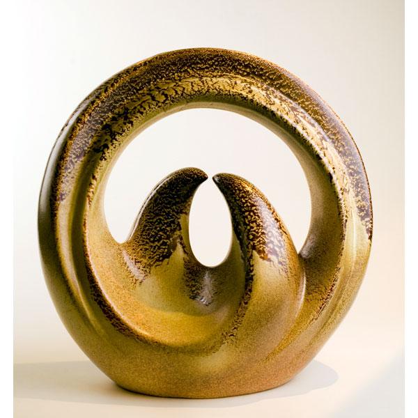 Jarrón de cerámica de Bertocello. Italia años 50
