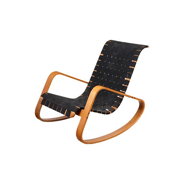 Sillón mecedora estilo Aalto. Suecia años 60