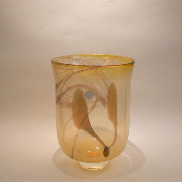Jarrón de cristal . Italia años 50