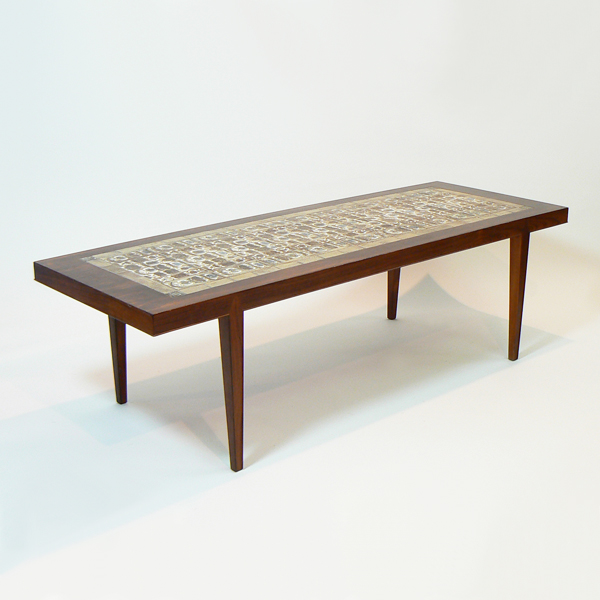 Mesa de Centro danesa con mosaico