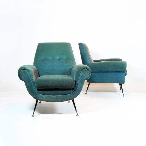 Pareja de sillones de Gigi Radice