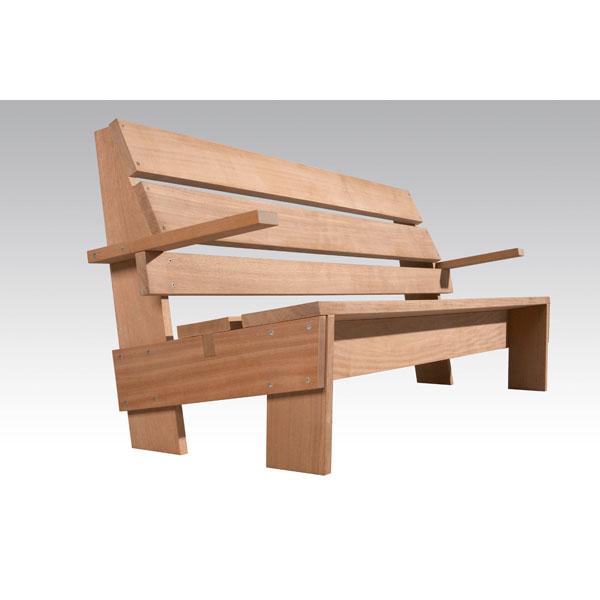 Banco de jard n de rietveld tiempos modernos for Banco madera jardin carrefour
