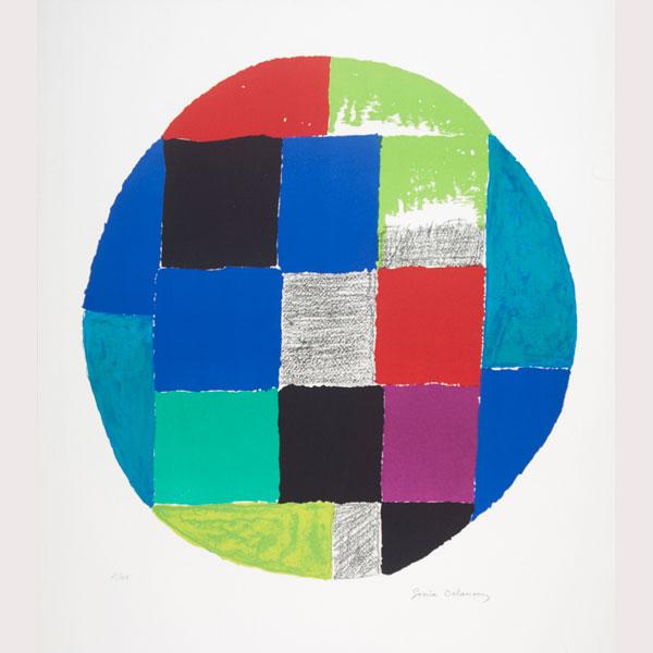 """Sonia Delaunay """"Composición geométrica"""""""