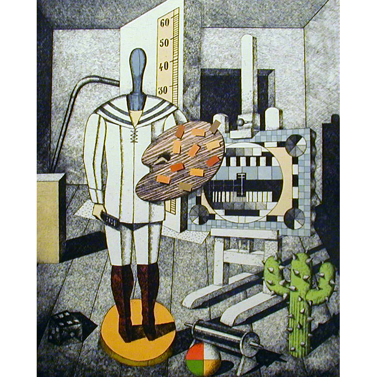 """Fernando Bellver """"Pintor metafísico"""". Serie clásica"""
