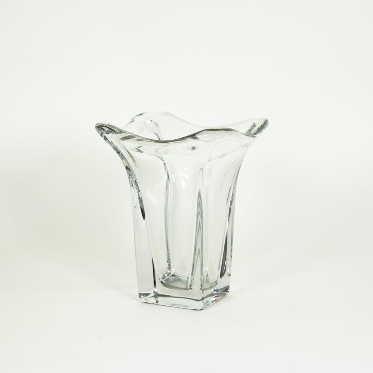 Jarron de cristal daum francia tiempos modernos for Jarron cristal