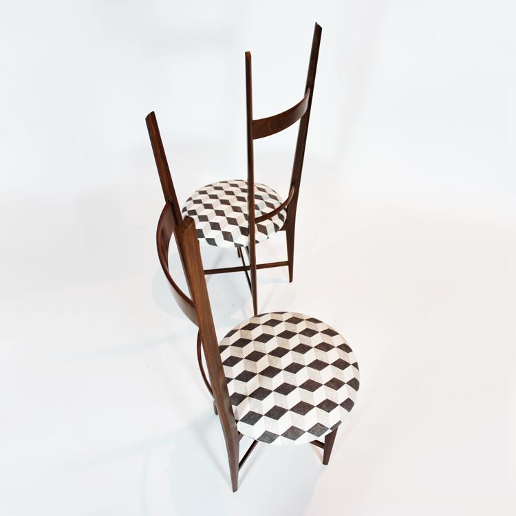 Pareja de sillas italianas años 50