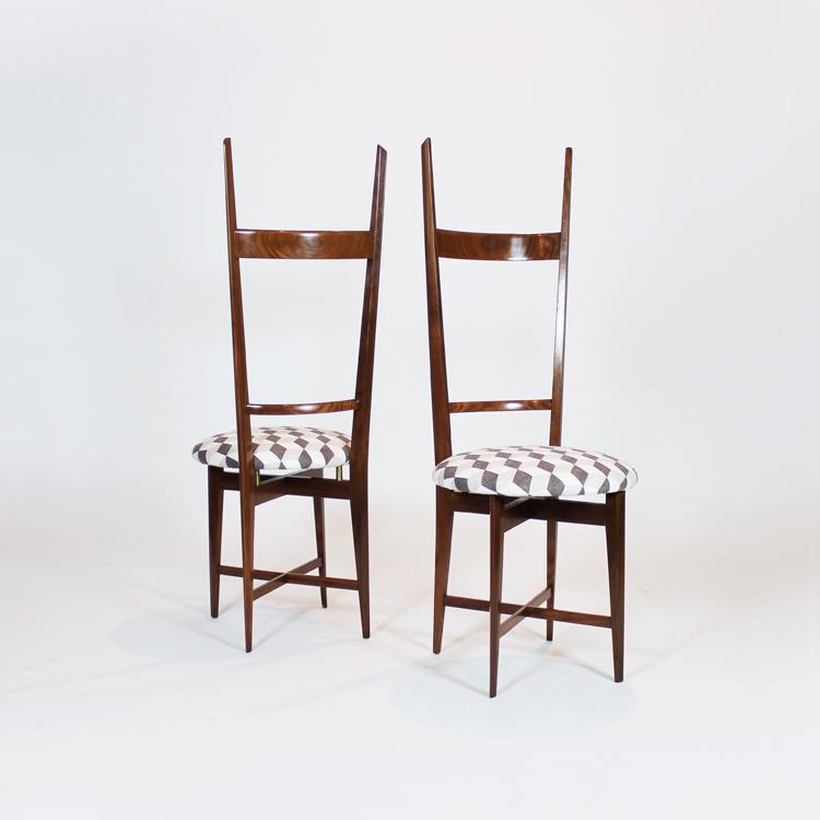 Pareja de sillas italianas de los años 50