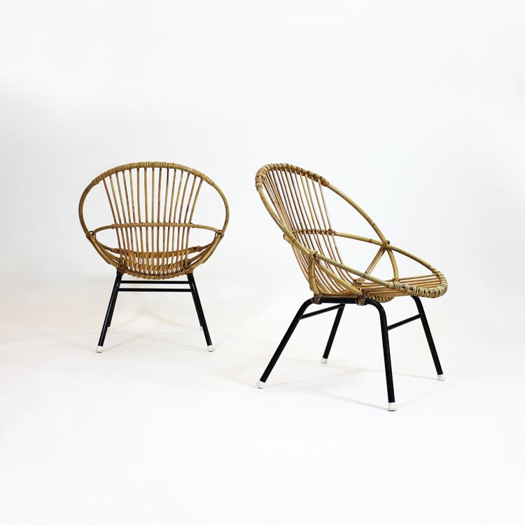 Pareja de sillones . Francia, 50s