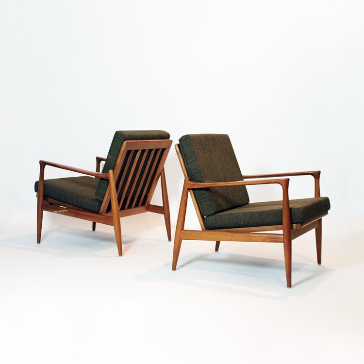 Pareja de butacas danesas a os 50 - Muebles anos 50 madrid ...
