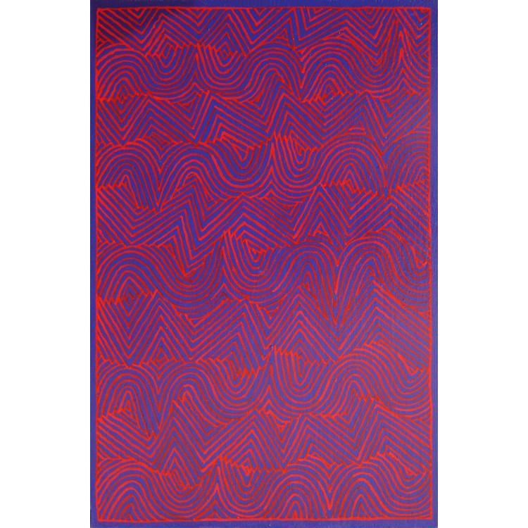 """Alfredo Alcain""""Azul y rojo"""",2012"""