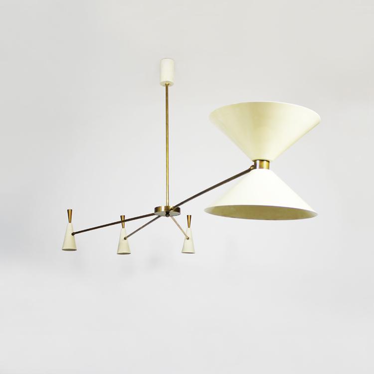 Lámpara de techo. Italia, hacia 1950