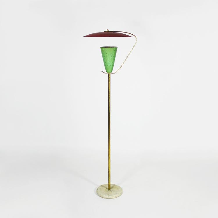 Lámpara de suelo italiana, años 50