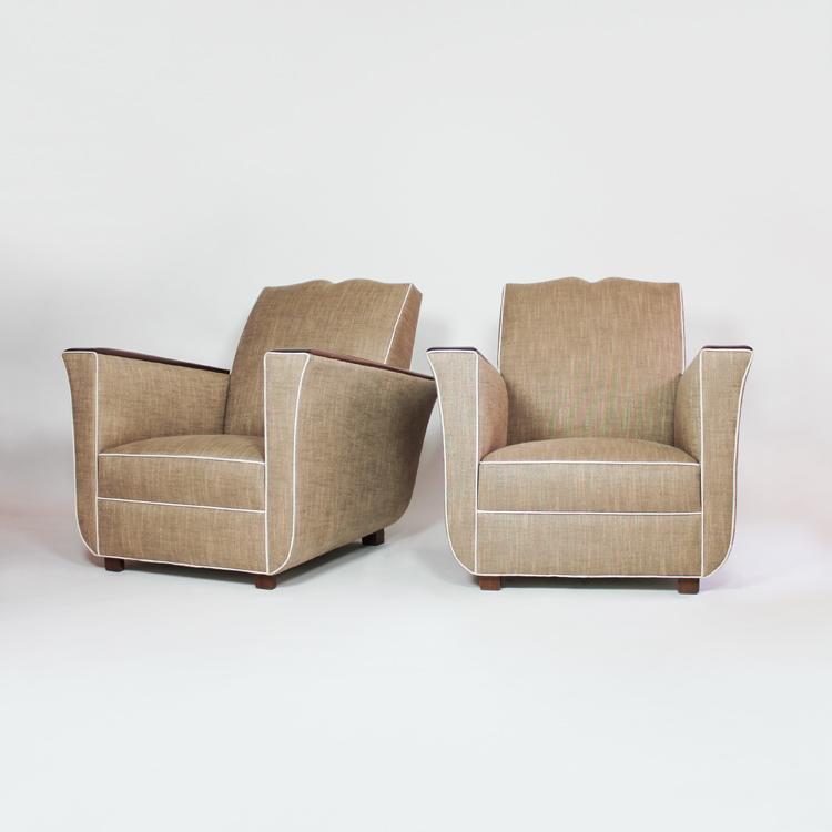 Pareja de sillones Art Deco. Francia, hacia 1940