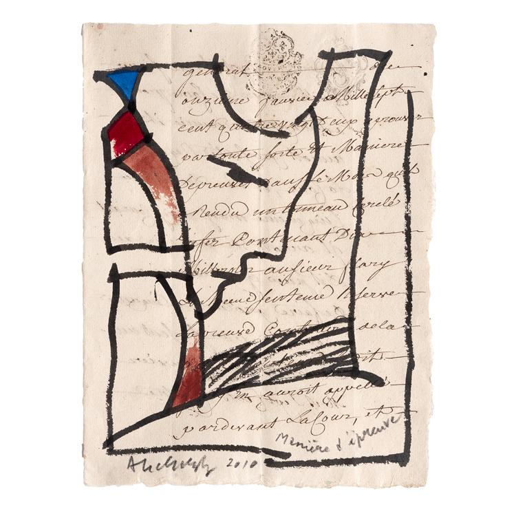 """Pierre Alechinsky,""""Manière d'épreuve"""", 2010"""