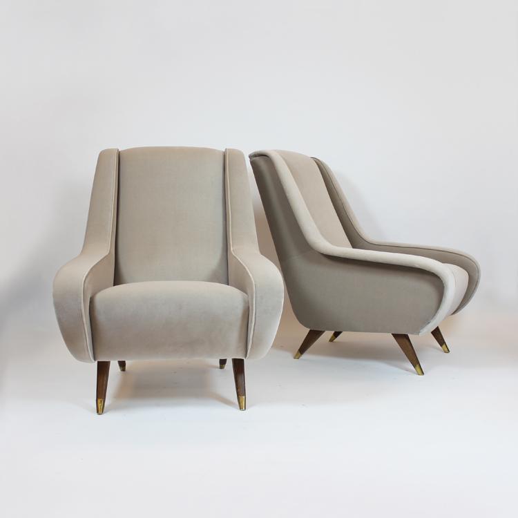 Pareja de sillones. Diseño italiano años 50