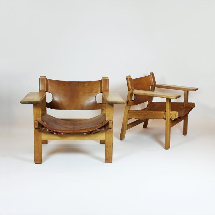 Pareja de sillones de Borge Mgensen