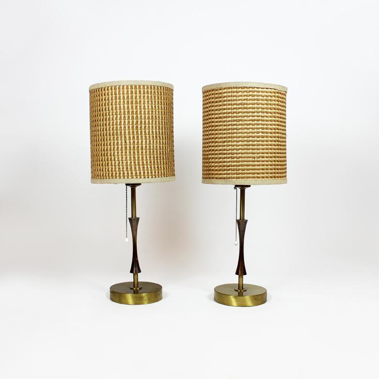Pareja de lámparas de mesa.España, años 50