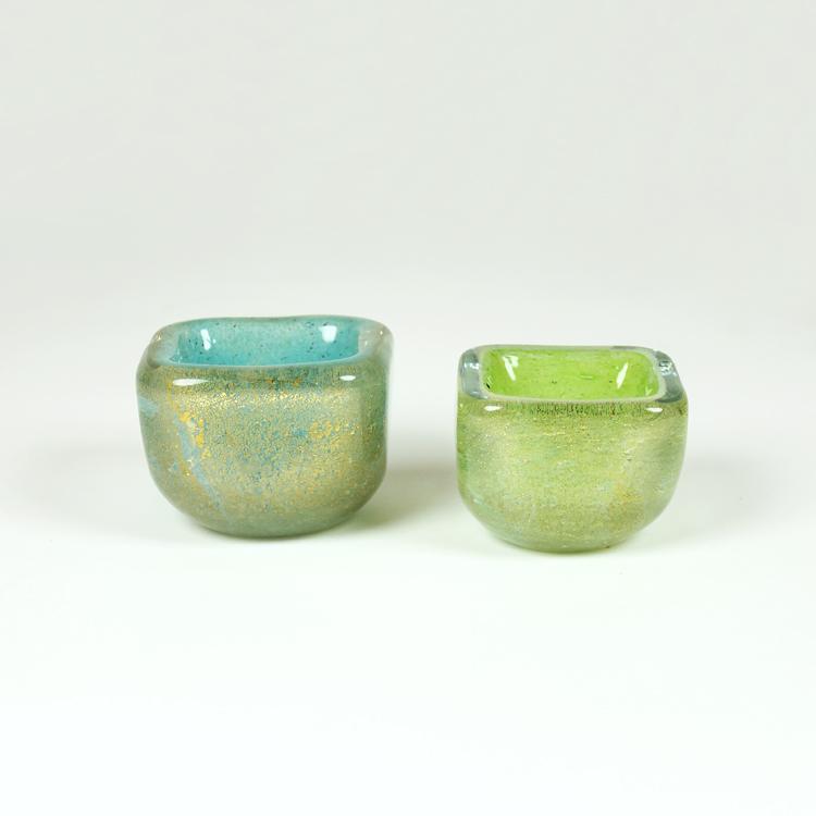 Cuencos de cristal de Barovier&Toso Murano
