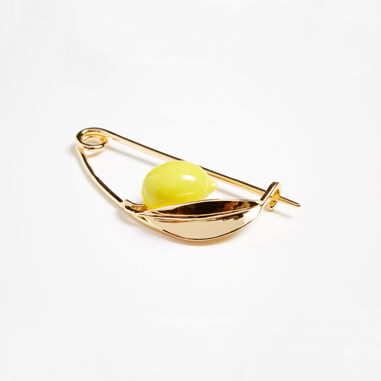Andrés Gallardo. Broche Lemon. Joyería contemporánea
