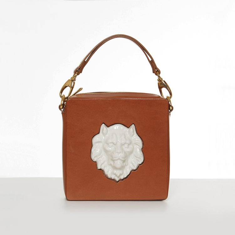 Square lion bag. Andres Gallardo-