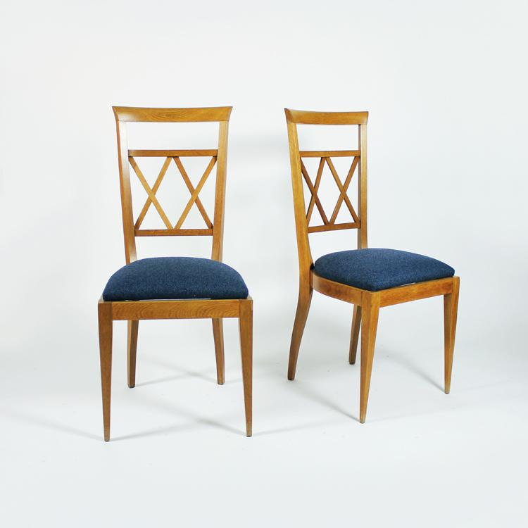 Conjunto de 4 sillas Art Dèco