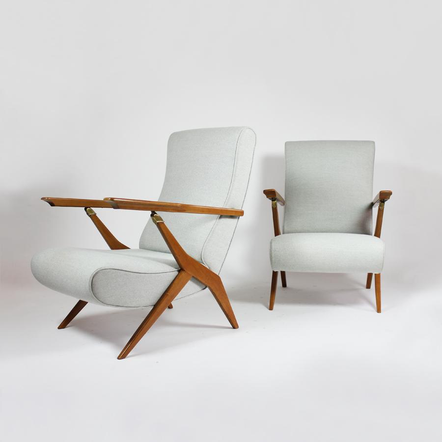 Pareja de sillones de Carlo Molino. Detalle