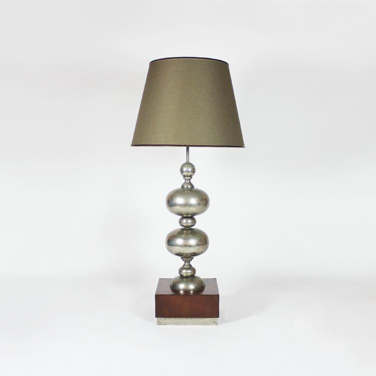 Lámpara de mesa grande. Francia, años 70