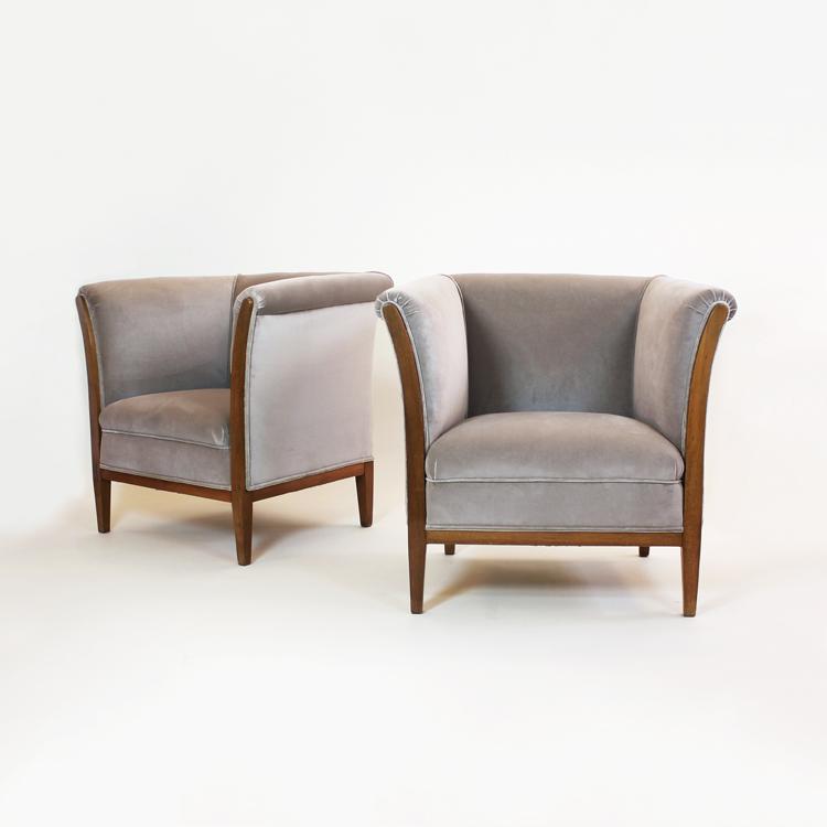 Pareja de sillones Art Dèco. Francia, h. 1930