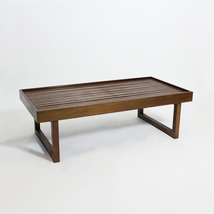 Banco-mesa en madera de caoba