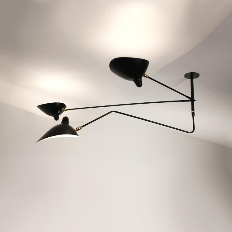 """Lámpara modelo """"Suspensión"""", de 2 brazos fijos y uno curvo"""