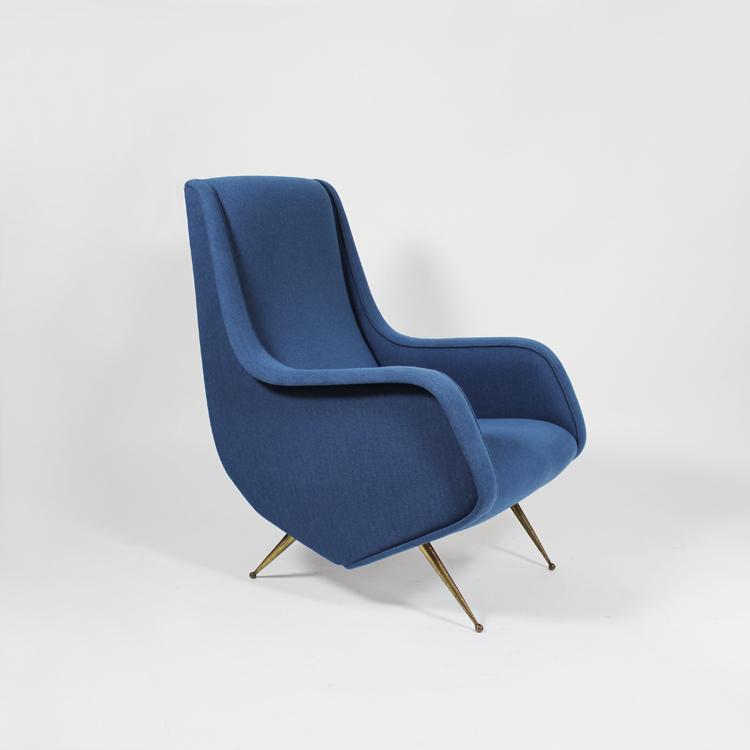 Pareja de sillones italianos, años 50