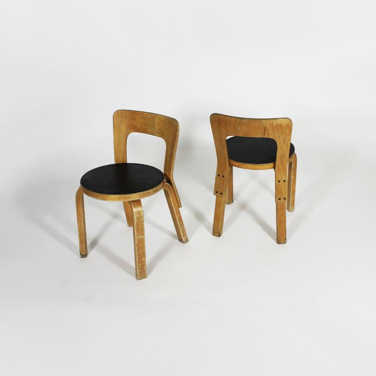 Sillas diseño Alvar Aalto, hacia 1930