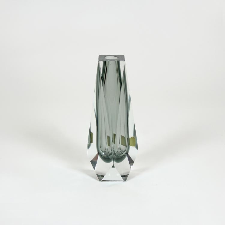 Jarrón solitario. Cristal de Murano, años 60