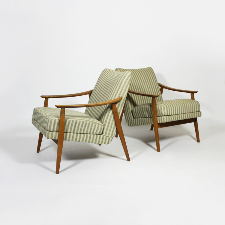 Pareja de sillones. Suecia, diseño de los años 50