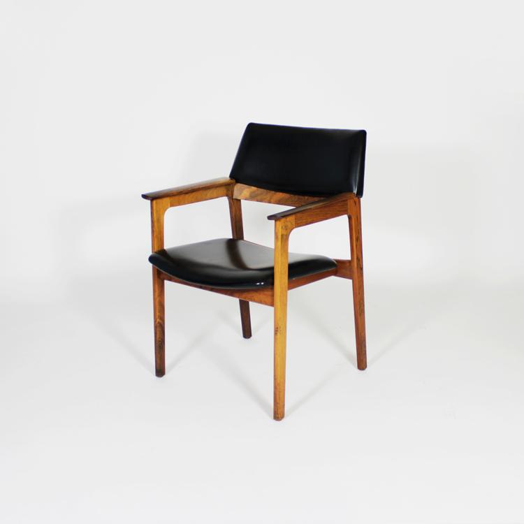 Butaca en madera de palosanto. Suecia, años 60