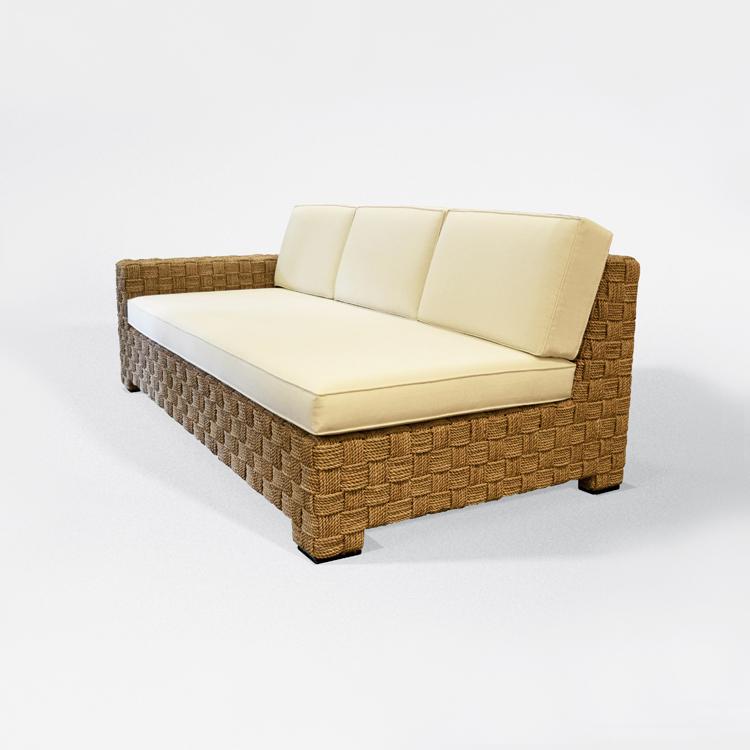 Sofá-chaise longue y reposapiés
