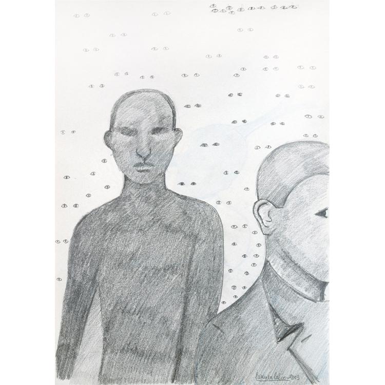 Carmen Calvo. La perversión de la mirada. Dibujo sobre papel, 2003. Exposición septiembre 2017