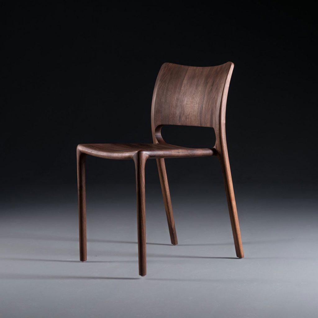 Silla Latus en madera, moderna y original con producción artesana en Europa de calidad