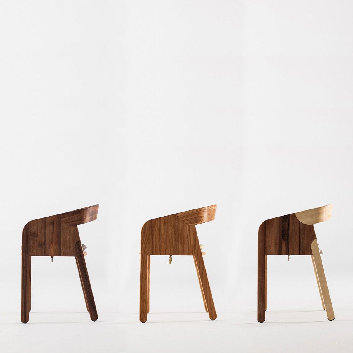 Silla malena de artisan en madera moderna artesana y for Sillas de diseno moderno