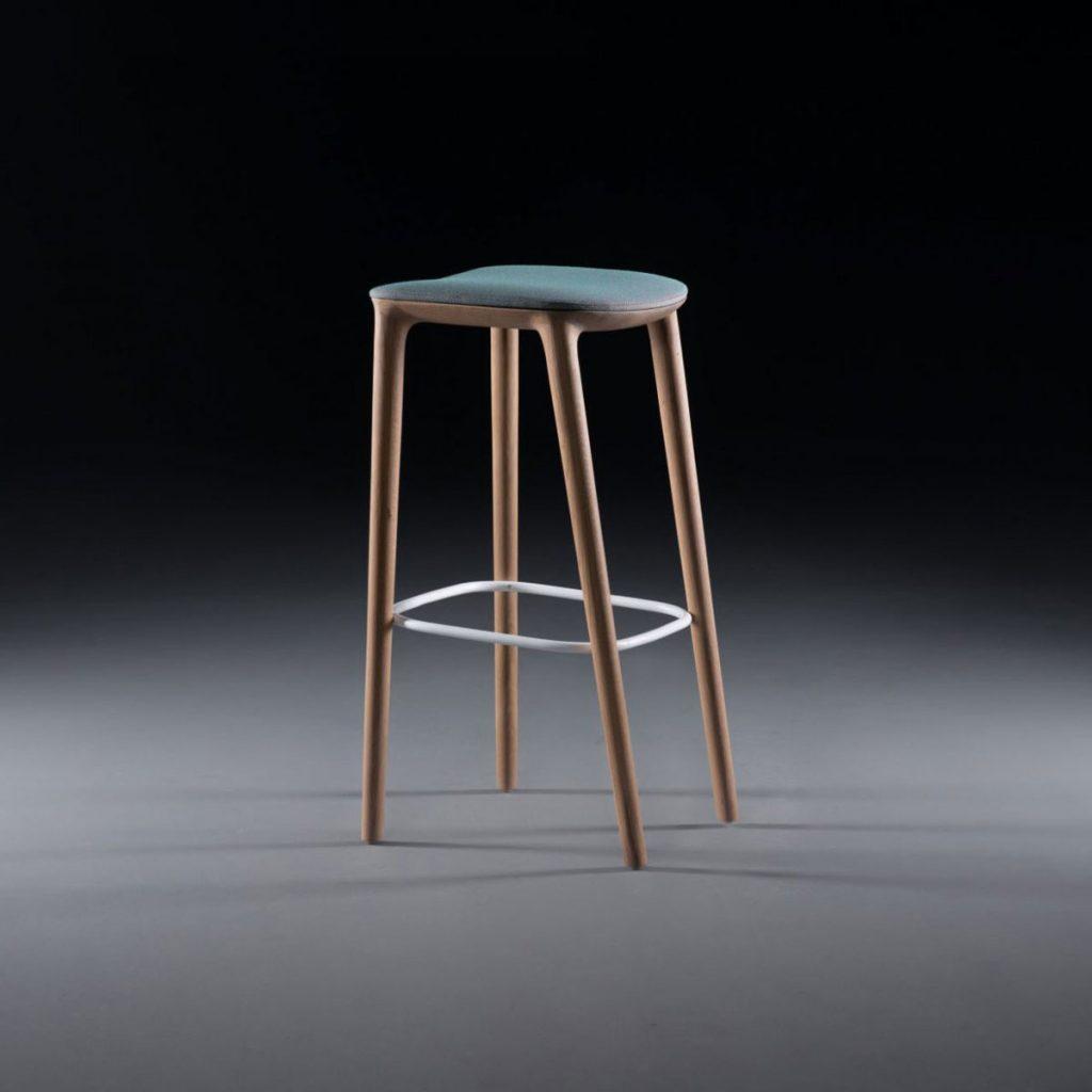 Silla Bar Neva 79, diseño europeo artesano, original de calidad para Artisan
