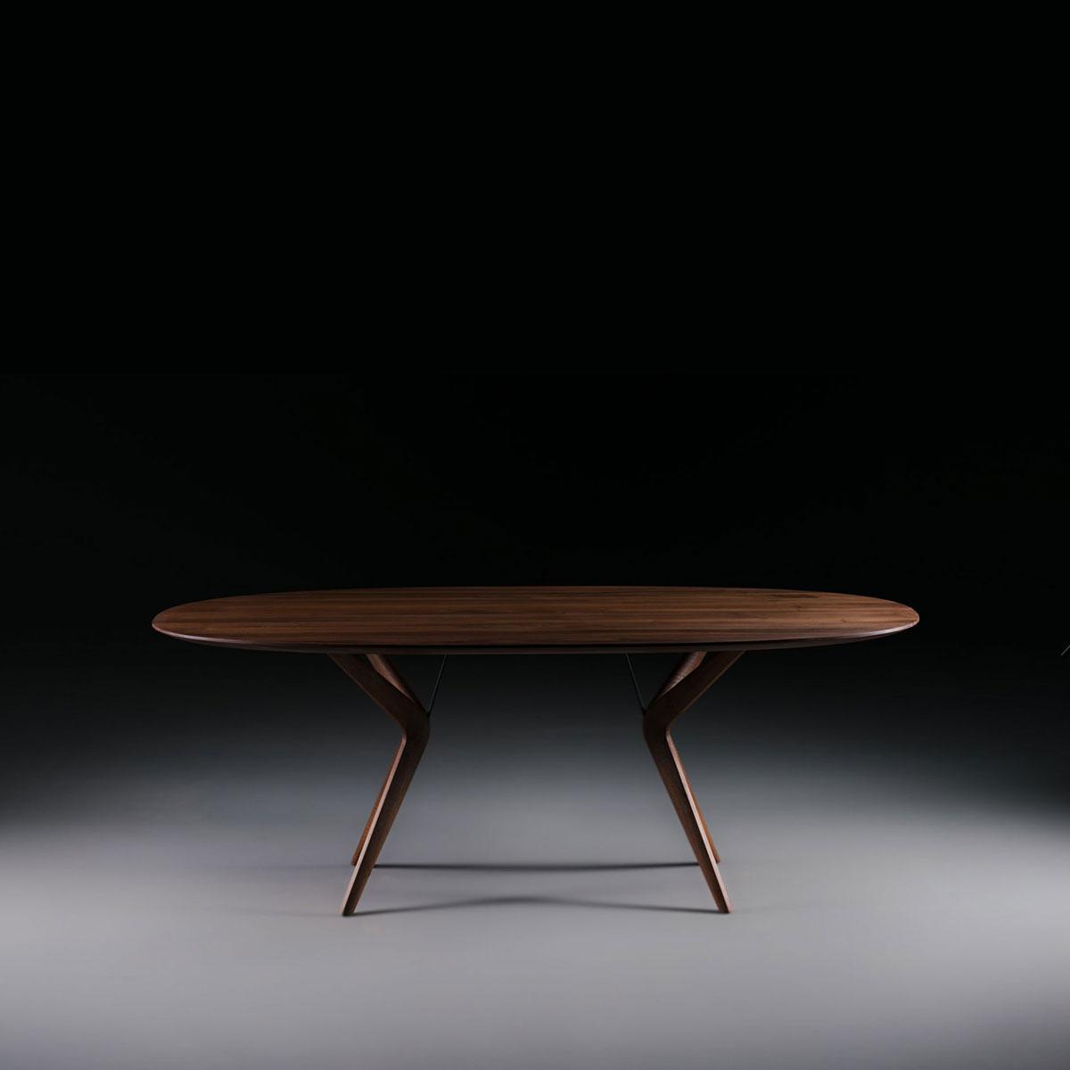Mesa lakri oval en madera moderna y artesana europea de - Mesa madera diseno ...