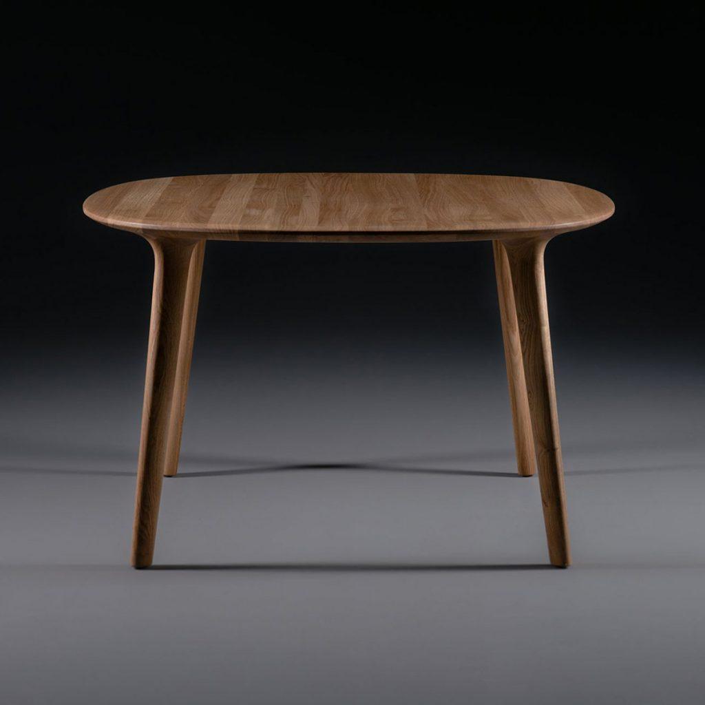Mesa Luc Redonda, realizada en madera de calidad y de forma artesana Diseño vanguardista y original europeo