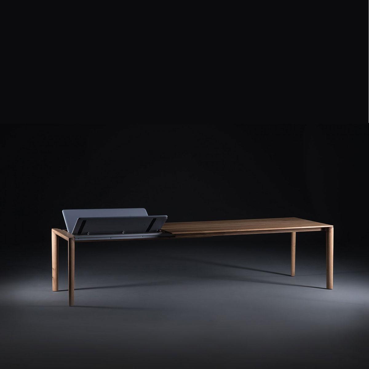 Mesa Neva con mecanismo en madera de diseño moderno, producida artesanalmente y de forma exclusiva para Artisan