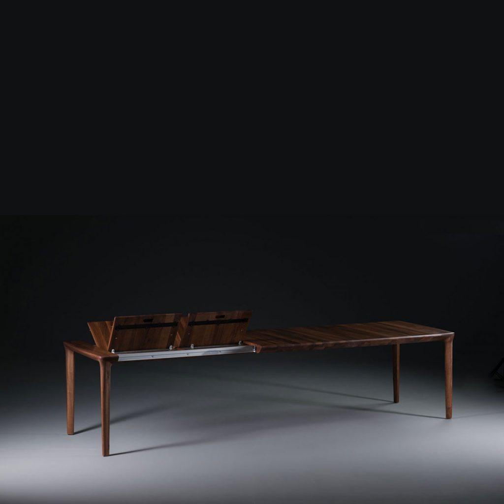 Mesa Tara con extensiones en madera maciza, con diseño moderno, original y exclusivo de calidad en Europa